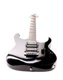 Όμορφη μαύρη ηλεκτρική κιθάρα. Στοκ Φωτογραφία