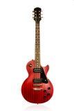 Όμορφη μαύρη και κόκκινη ηλεκτρική κιθάρα ηλιοφάνειας Στοκ εικόνες με δικαίωμα ελεύθερης χρήσης