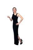 όμορφη μαύρη μακροχρόνια φθορά φορεμάτων brunette 5 Στοκ Εικόνες