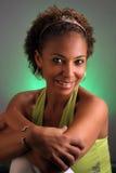 όμορφη μαύρη ώριμη γυναίκα headshot 3 Στοκ Εικόνες