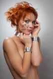 όμορφη μελλοντική γυναίκ&al Στοκ Εικόνα