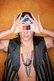 όμορφη μικτή άτομο φυλή πακέ&tau Στοκ εικόνες με δικαίωμα ελεύθερης χρήσης