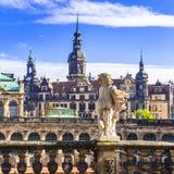 Όμορφη μπαρόκ Δρέσδη - Γερμανία στοκ εικόνες