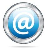 όμορφη μπλε επαφή κουμπιών απεικόνιση αποθεμάτων