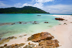 όμορφη μπλε θάλασσα άμμου στοκ φωτογραφίες