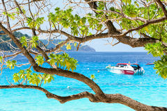 Όμορφη μπλε θάλασσα Koh Miang Koh Similan, Ταϊλάνδη της MU Στοκ Εικόνες