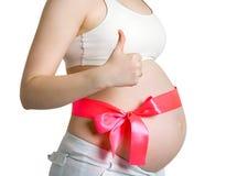 Όμορφη νέα έγκυος γυναίκα Στοκ εικόνα με δικαίωμα ελεύθερης χρήσης