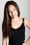Όμορφη νέα γυναίκα χωρίς σύνθεση στο άσπρο υπόβαθρο Στοκ εικόνες με δικαίωμα ελεύθερης χρήσης