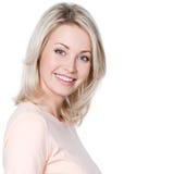 Όμορφη νέα ευτυχής γυναίκα Στοκ Εικόνες