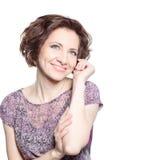 Όμορφη νέα χαμογελώντας γυναίκα Στοκ εικόνα με δικαίωμα ελεύθερης χρήσης