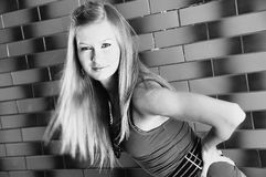 Όμορφη νέα όμορφη γυναίκα κοριτσιών μόδας πρότυπη στη γραπτή υγεία σωμάτων υγείας ικανότητας Στοκ φωτογραφίες με δικαίωμα ελεύθερης χρήσης
