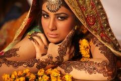 όμορφη νύφη Ινδός Στοκ εικόνα με δικαίωμα ελεύθερης χρήσης