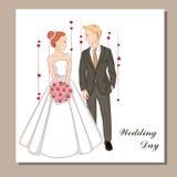 όμορφη νύφη 1 πρόσκληση καρτών διανυσματική απεικόνιση