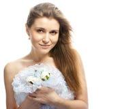 Όμορφη νύφη στο γαμήλιο φόρεμα στοκ εικόνες με δικαίωμα ελεύθερης χρήσης