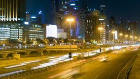 Όμορφη νύχτα timelapse ενός δρόμου στο Ντουμπάι, Ε.Α.Ε. φιλμ μικρού μήκους
