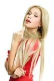 όμορφη ξανθή γυναίκα πορτρέ&tau Στοκ Εικόνα
