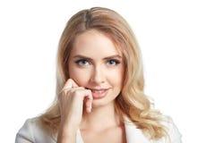 όμορφη ξανθή γυναίκα πορτρέ&tau Στοκ εικόνες με δικαίωμα ελεύθερης χρήσης