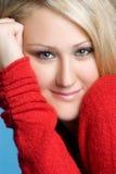 όμορφη ξανθή γυναίκα Στοκ Φωτογραφίες