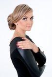 Όμορφη ξανθή νέα γυναίκα Στοκ Εικόνες