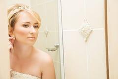 όμορφη ξανθή νύφη Στοκ Εικόνα