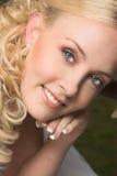 όμορφη ξανθή νύφη Στοκ Φωτογραφίες