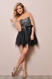 όμορφη ξανθή φαντασία φορεμάτων Στοκ Φωτογραφίες