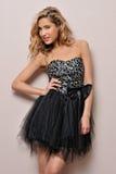 όμορφη ξανθή φαντασία φορεμάτων Στοκ εικόνες με δικαίωμα ελεύθερης χρήσης