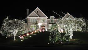 Όμορφη 'Οικία' Χριστουγέννων Reston Στοκ Φωτογραφία