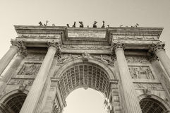 Όμορφη δομή Arco του ρυθμού della στο Μιλάνο Στοκ Φωτογραφίες