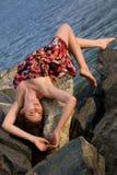 όμορφη ονειρεμένος γυναί&ka Στοκ φωτογραφίες με δικαίωμα ελεύθερης χρήσης