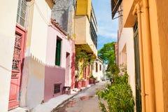 Όμορφη οδός στην Αθήνα, Ελλάδα Στοκ Εικόνες