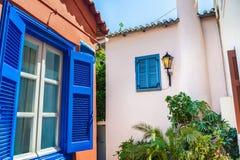 Όμορφη οδός στην Αθήνα, Ελλάδα Στοκ φωτογραφία με δικαίωμα ελεύθερης χρήσης