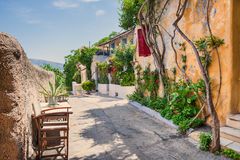 Όμορφη οδός στην Αθήνα, Ελλάδα Στοκ Φωτογραφίες