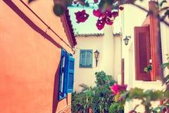 Όμορφη οδός στην Αθήνα, Ελλάδα Στοκ εικόνες με δικαίωμα ελεύθερης χρήσης