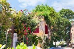 Όμορφη οδός στην Αθήνα, Ελλάδα Στοκ εικόνα με δικαίωμα ελεύθερης χρήσης