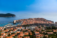 Όμορφη πανοραμική άποψη άνωθεν Dubrovnik Κροατία Στοκ εικόνα με δικαίωμα ελεύθερης χρήσης