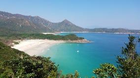 Όμορφη παραλία, παραλία κασσίτερου ζαμπόν, Χονγκ Κονγκ στοκ εικόνες
