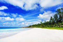 Όμορφη παραλία παραδείσου στις Σεϋχέλλες, λεπτοκαμωμένο anse, digu Λα Στοκ εικόνες με δικαίωμα ελεύθερης χρήσης