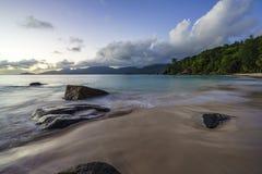 Όμορφη παραλία παραδείσου, anse soleil, Σεϋχέλλες 1 Στοκ εικόνα με δικαίωμα ελεύθερης χρήσης