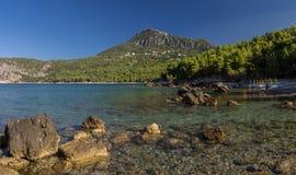 Όμορφη παραλία στην αδριατική θάλασσα Μαυροβούνιο στοκ εικόνες