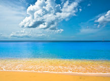 Όμορφη παραλία στη Αγία Λουκία Στοκ Εικόνες