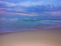 Όμορφη παραλία στο Playa del Carmen το καλοκαίρι Στοκ εικόνα με δικαίωμα ελεύθερης χρήσης