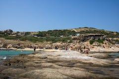 Όμορφη παραλία Tigania στην ελληνική χερσόνησο Sithonia Στοκ φωτογραφία με δικαίωμα ελεύθερης χρήσης