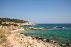 Όμορφη παραλία Tigania στην ελληνική χερσόνησο Sithonia Στοκ φωτογραφίες με δικαίωμα ελεύθερης χρήσης