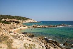 Όμορφη παραλία Tigania στην ελληνική χερσόνησο Sithonia Στοκ Εικόνα