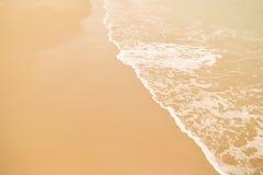 Όμορφη παραλία άμμου Στοκ εικόνες με δικαίωμα ελεύθερης χρήσης