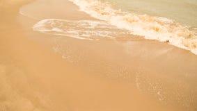 Όμορφη παραλία άμμου Στοκ εικόνα με δικαίωμα ελεύθερης χρήσης