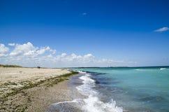 Όμορφη παραλία Μαύρης Θάλασσας, Shabla, Βουλγαρία Στοκ Φωτογραφίες