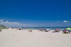 Όμορφη παραλία Μαύρης Θάλασσας, Shabla, Βουλγαρία Στοκ φωτογραφίες με δικαίωμα ελεύθερης χρήσης