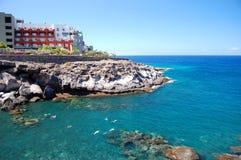 Όμορφη παραλία σε Playa Paraiso ν Tenerife Στοκ εικόνα με δικαίωμα ελεύθερης χρήσης
